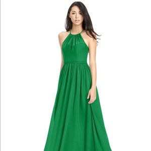 Azazie Kailyn Dress in Emerald with Chiffon Shawl